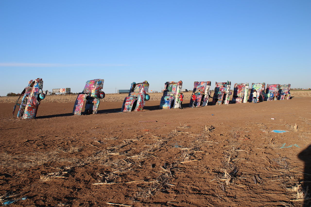 Cadillac Ranch...Amarillo, TX Art Artistic Car Day Multi Colored Outdoors Sky Tranquility
