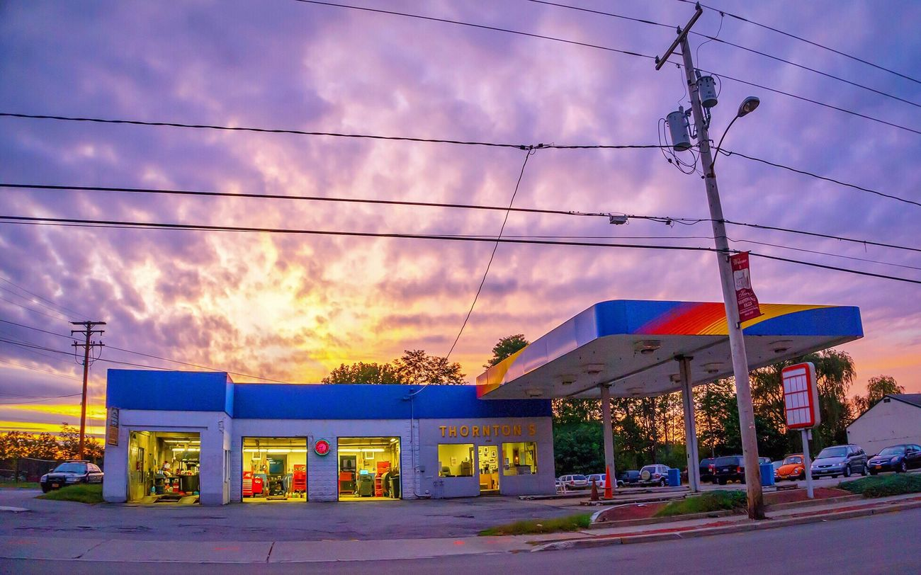 Wappingers Falls Gas Station Sunset Sunoco