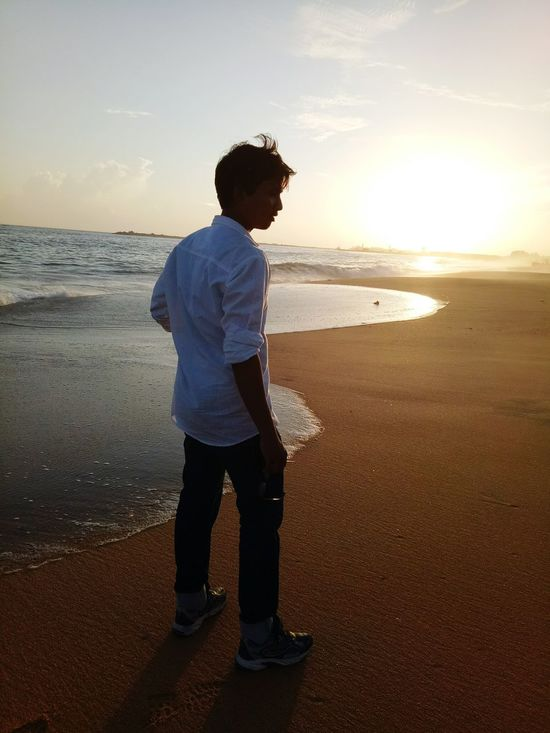 I look my best . When I Am Totally Free.,on Holiday, Walking 🚶 On The Beach 🏖🏝🌅🌞🌝☉🌴 Sea Beach Sunset One Man Only Only Men Full Length Standing One Person People Men Adult Adults Only Sky Vacations Water Outdoors Nature Horizon Over Water Day
