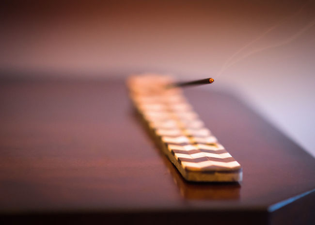 Burning Close-up Differential Focus Home Decor Incense Incense Cone Indoors  Man Made Object No People Selective Focus Table