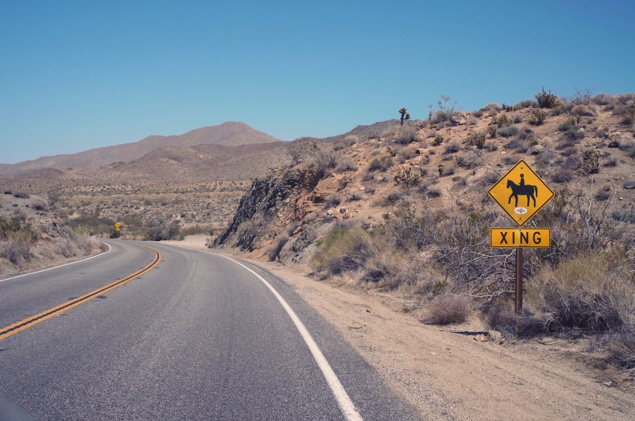 Sign By Road In Remote Area