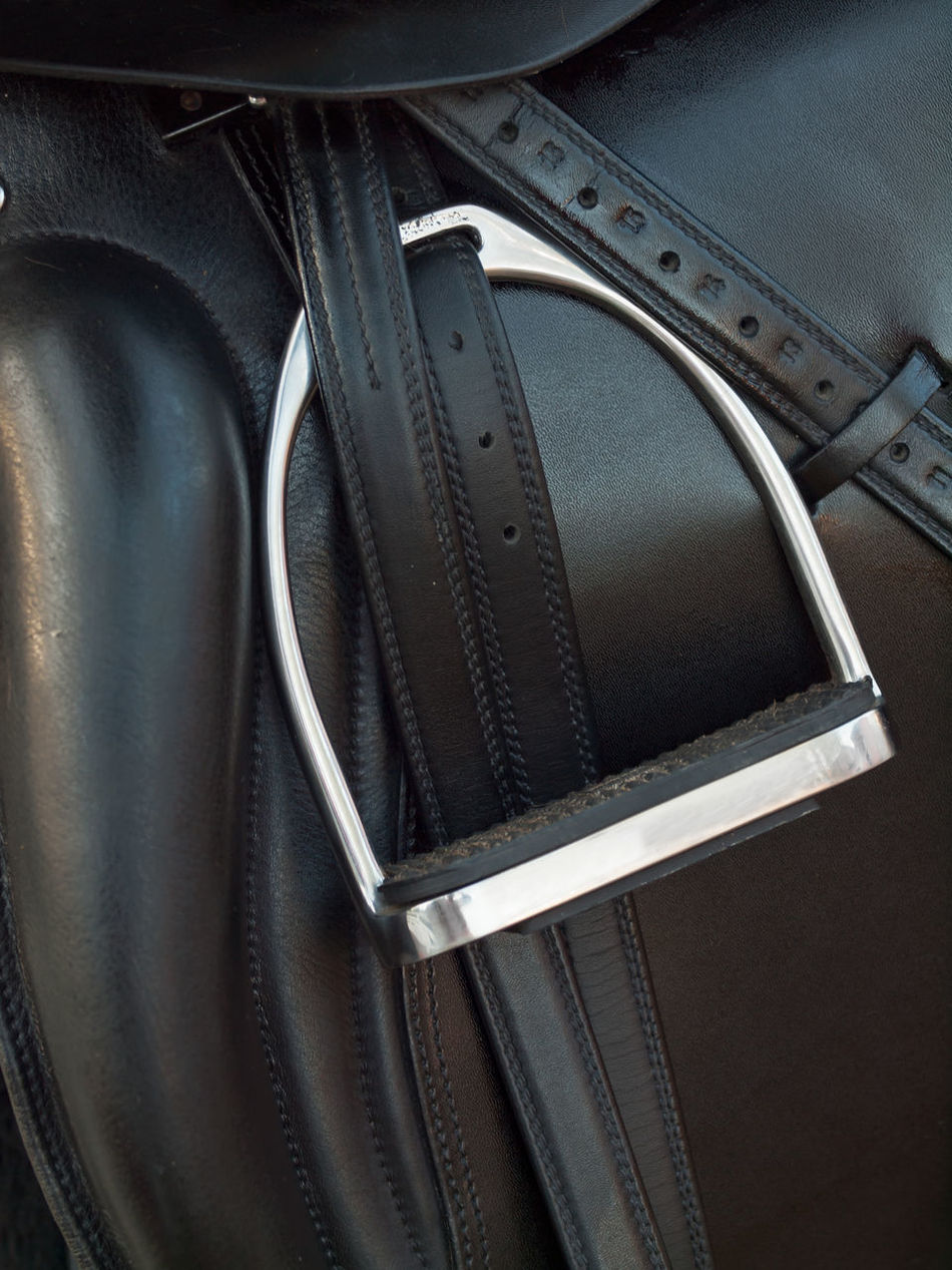 Black Close Up Close-up Day Horse Horse Life Horse Photography  Indoors  Leather Luxury Metal No People Stirrup Technology