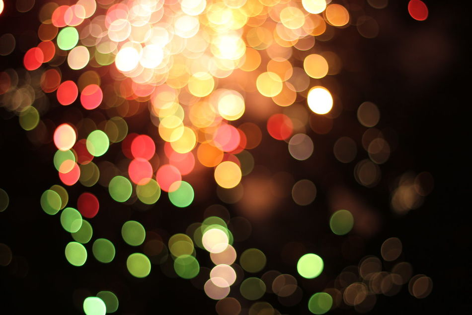 Lights In The Dark Abstract Bokeh Firework Firworks Balls Bokeh Balls Colors Colurful Cluster Illuminated Circle Defocused Vibrant Color Celebration Multi Colored