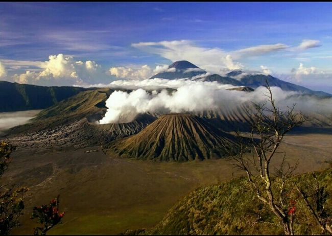 Indonesian Summit , Bromo mountain Volcano .. 😄😄 Beautiful Mountain View Savanabromo Bromo Summit
