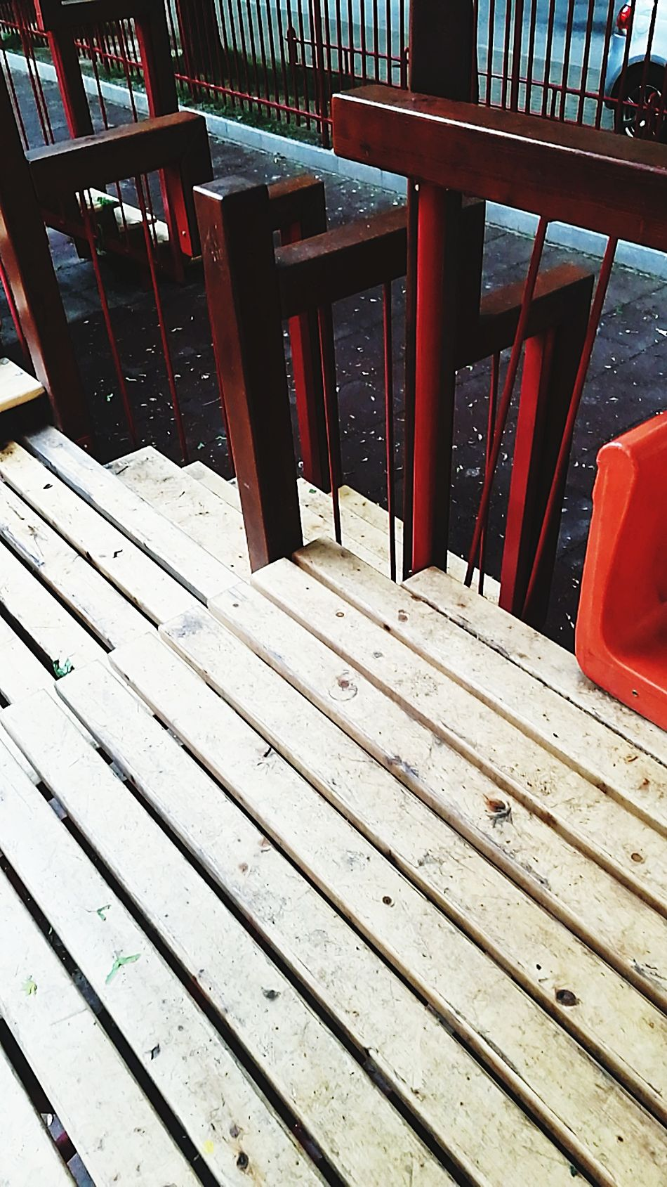 Steps Wood - Material Red