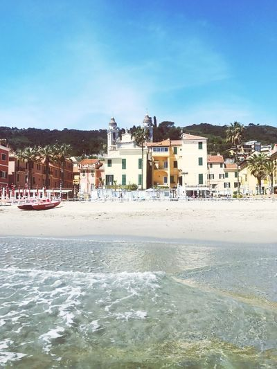 No People Sky Built Structure Outdoors Day Building Exterior Beauty In Nature Scenics Water Tranquility Nature Vacations Waterfront Beach Laigueglia