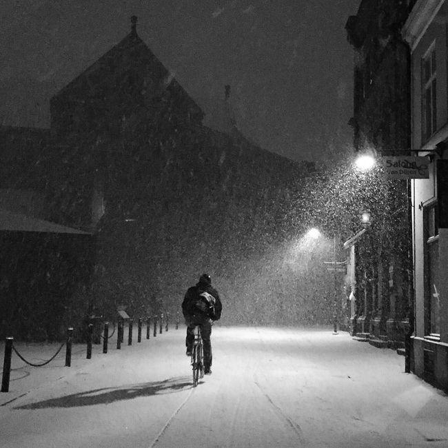 Bike Snow Blackandwhite Streetphotography