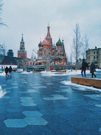 Winter Cold Temperature Snow Ice Rink History Travel Destinations People Outdoors Ice Hockey City King - Royal Person Architecture Day Sky Snowing Adult