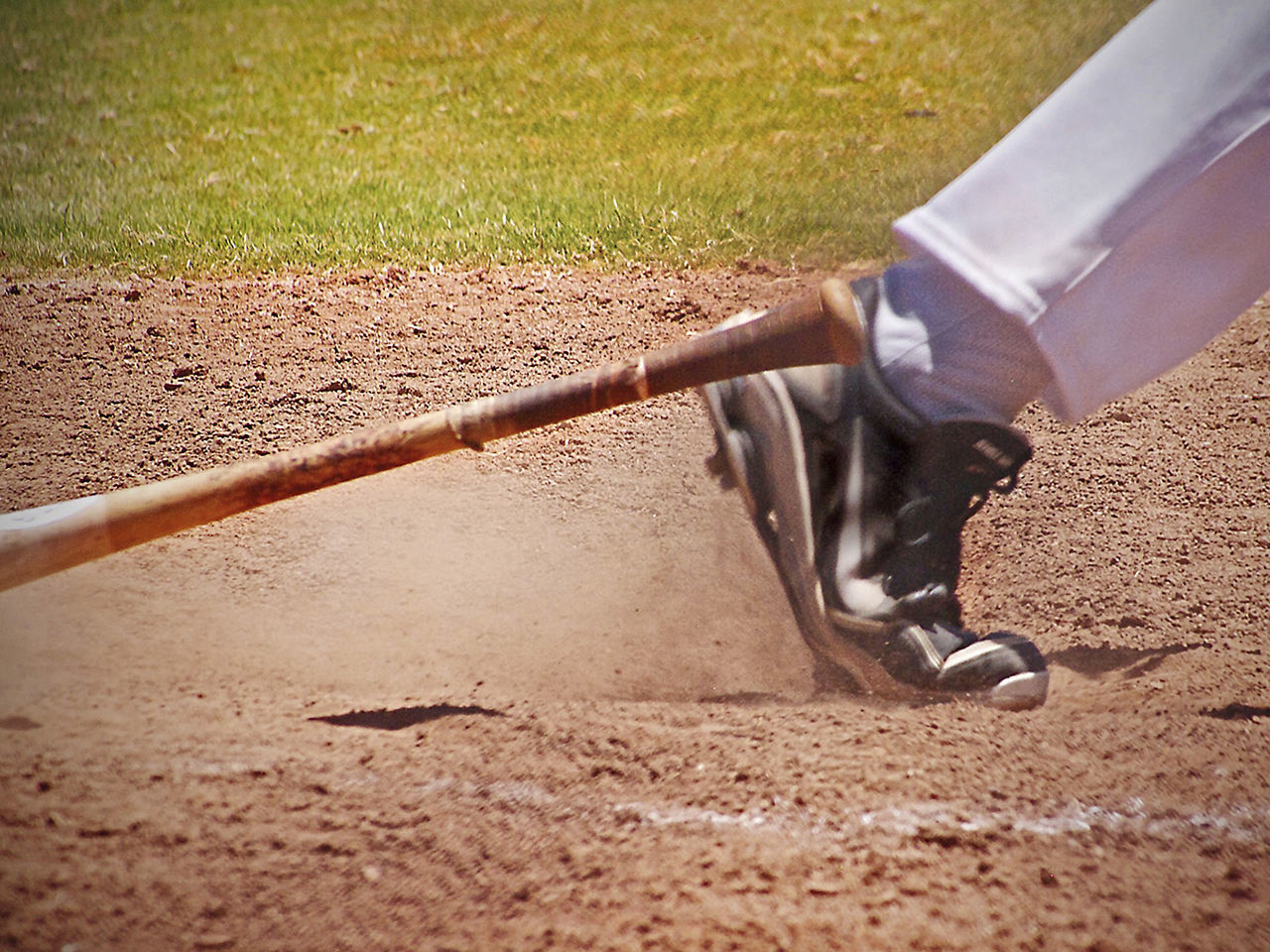 Baseball Bat Baseball Cleat Baseball Field Baseball Game Competition Dirt Dropped Bat Outdoors