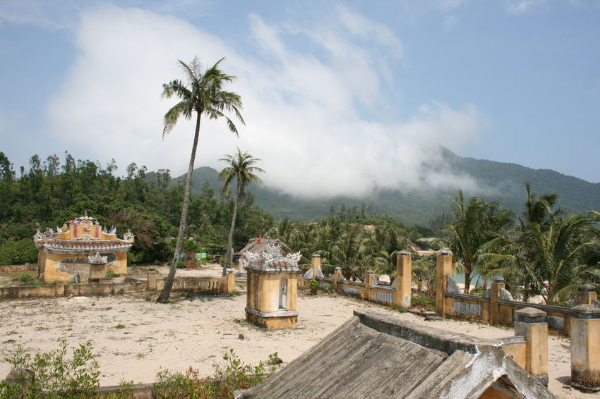 Cham Island, Vietnam Ancient Architecture Asian Culture Cham Island Day Nature No People Outdoors Palm Tree Ruins Sky Tropical Climate Vietnam Vietnamese Village