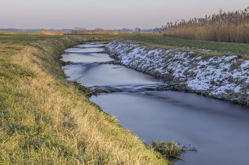 Agriculture Beauty In Nature Day Grass Landscape Long Exposure Nature ND Filter No People Outdoors Rural Scene Scenics Sky Stream - Flowing Water Tranquil Scene Water