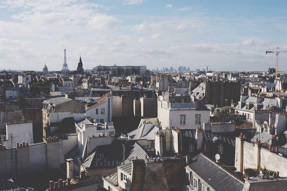 Paris ❤ Paris Paris, France  France Beautiful Architecture Building Exterior Built Structure Sky Architecture Cloud - Sky Eiffel Tower Rooftop House Enjoying Life Enjoying The Sun City High Angle View Day Town Urban