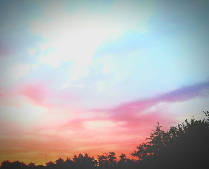 закат🌇 небо⛅️ фотка Cloud - Sky Sky Day Multi Colored Nature Tree Dramatic Sky Beauty In Nature Sunset Silhouette No People Dusk Scenics Outdoors Tranquil Scene Low Angle View Forest First Eyeem Photo