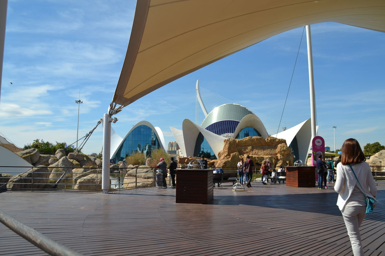 Travel Destinations Tourism Tourist People Aquarium Oceanographic Modern Valencia, Spain
