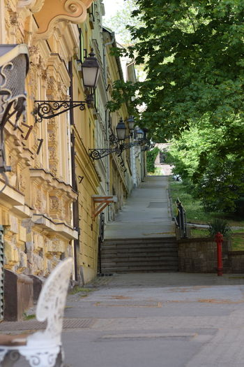 Hydrant Pécs Stairs Steps Sétatér The Way Forward Uphill Walkway