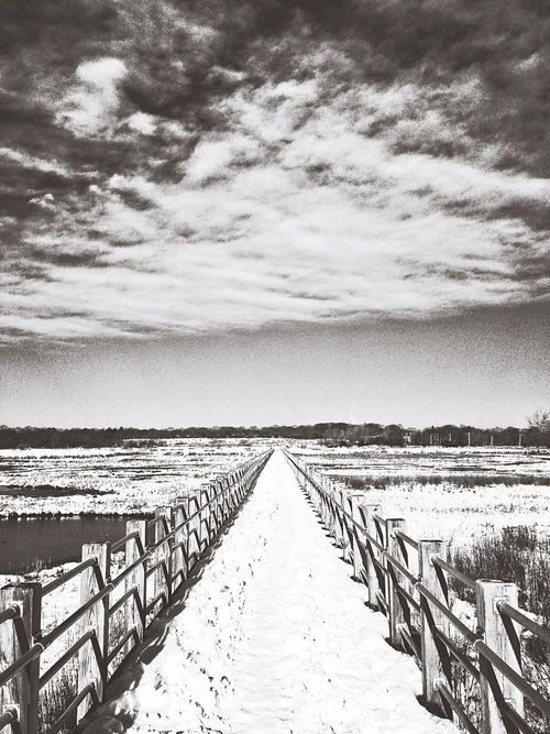 Snow ❄ Snowy Scene Outdoors IPhoneography Iphonephotography Winter Bridge - Man Made Structure Winter Wonderland Showcase : February Showcase: February Snow Scene  Outdoor Photography Winter Photography USA Beach Photography New England  Connecticut Milford Sound Milford CT Silver Sands Beach Silver Sands State Park