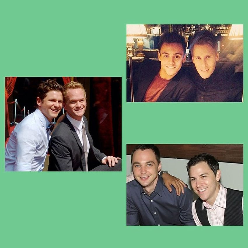 as if there all gay?! Gay Celebrities Boyfriend Sheldoncooper neilpatrickharristomdaley