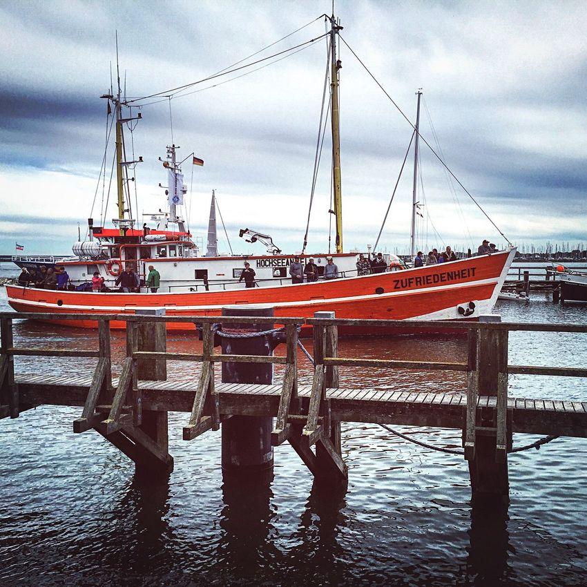 Zufriedenheit Rostock Warnemünde Schiff Ostsee Boat Baltic Sea 2015  Iphone 6 IPhoneography ShotOniPhone6
