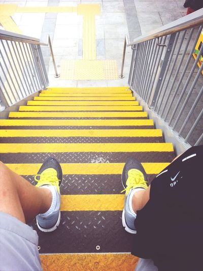 Rest after 10km run. Rest Running Nike Stairs