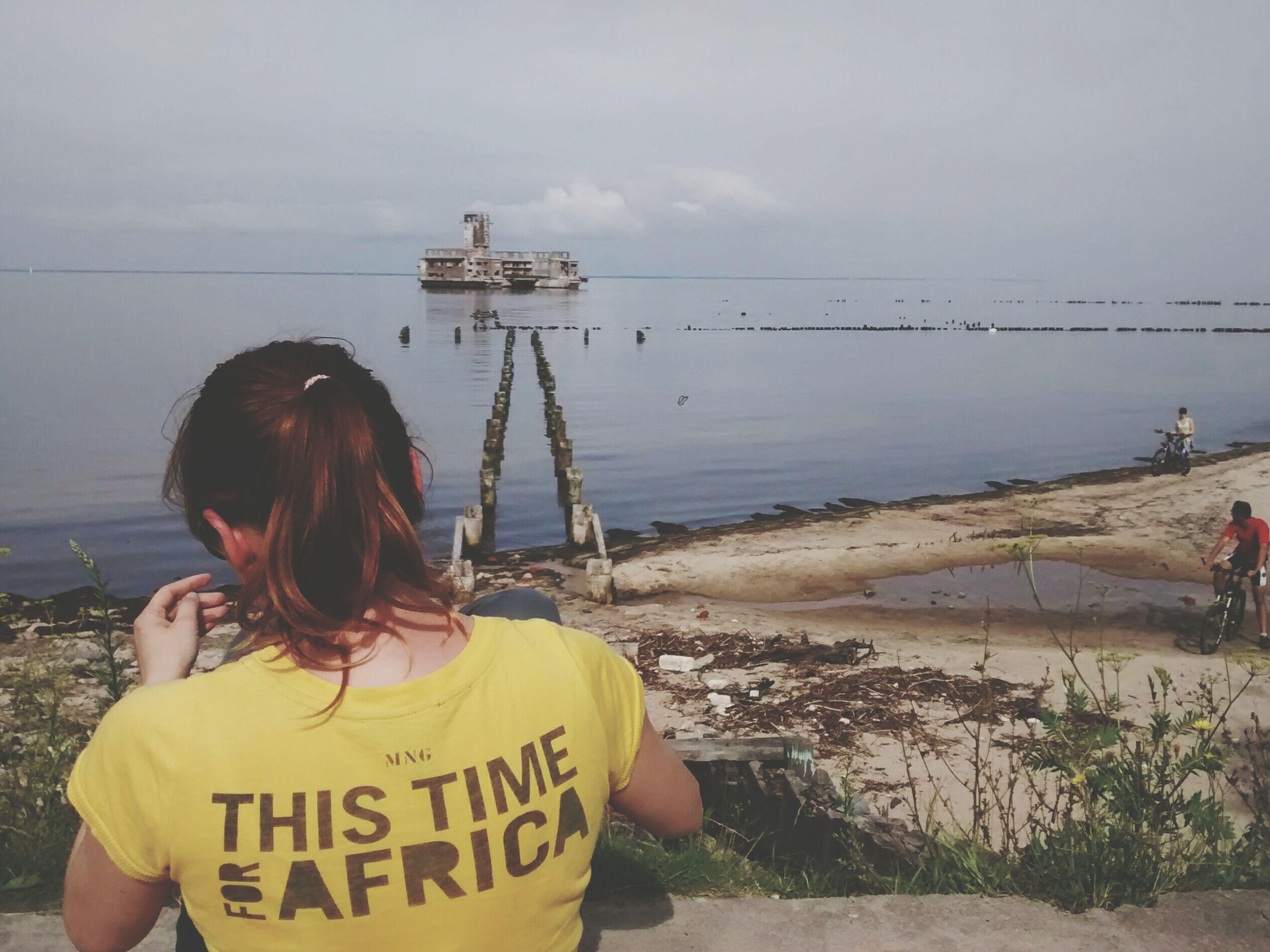 Taking Photos Enjoying Life Sea And Sky Yellow Beach Torpedo Platform Girl Summertime Hanging Out Alina