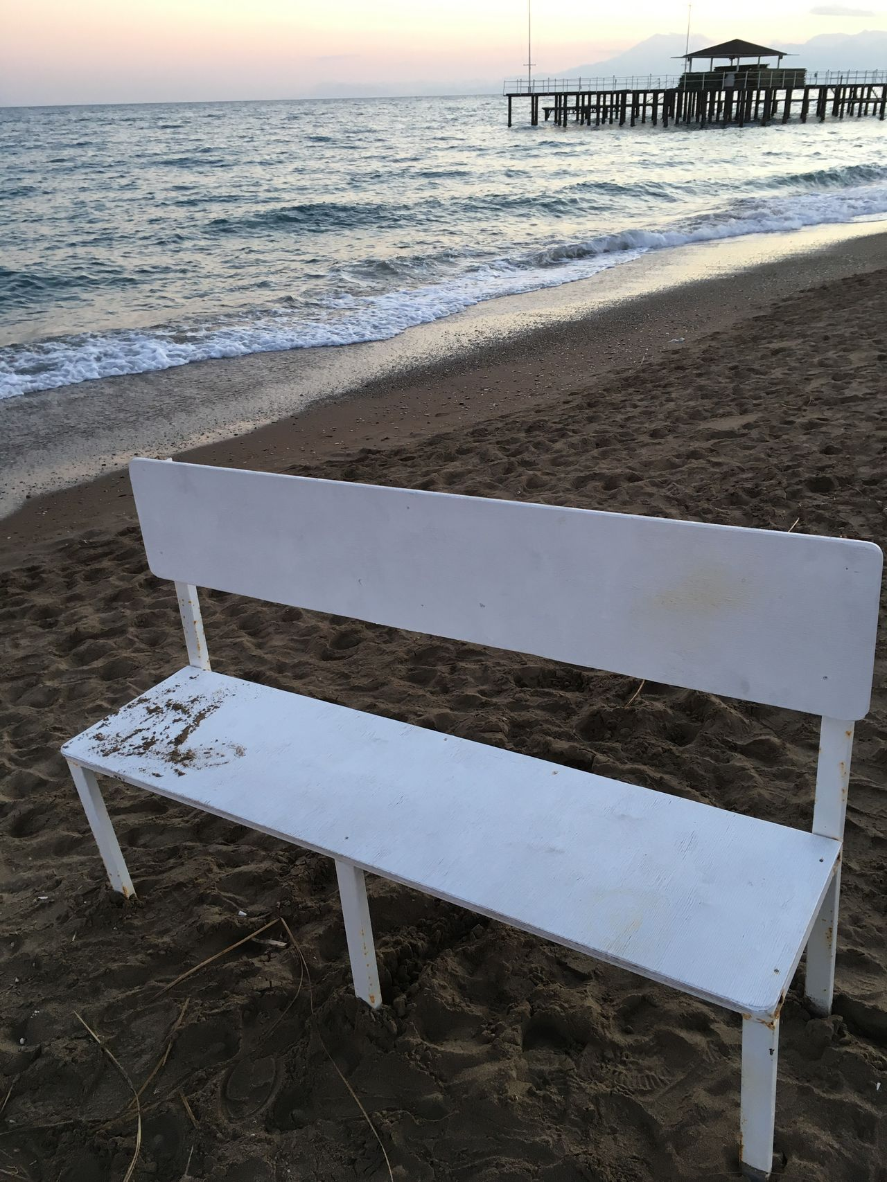 Sea Beach Bench No People Tranquility Sand Winter Akdeniz Antalya Turkey Sunset Wave EyeEm EyeEm Best Shots Picoftheday Loneliness Lara Day Challenge picture of the loneliness in winter Close-up