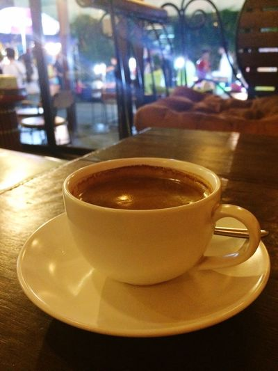 Chai Latte Coffee Break Hello World Coffee Summer! ♥ Travel Photography walking street in Lampang province, Northern of Thailand
