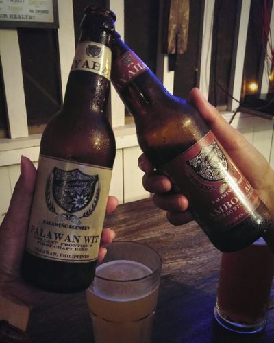 Ayahay @Palawan Brewery. PalawanWit AmbogAle Beer Local Philippines Night Adult Drink