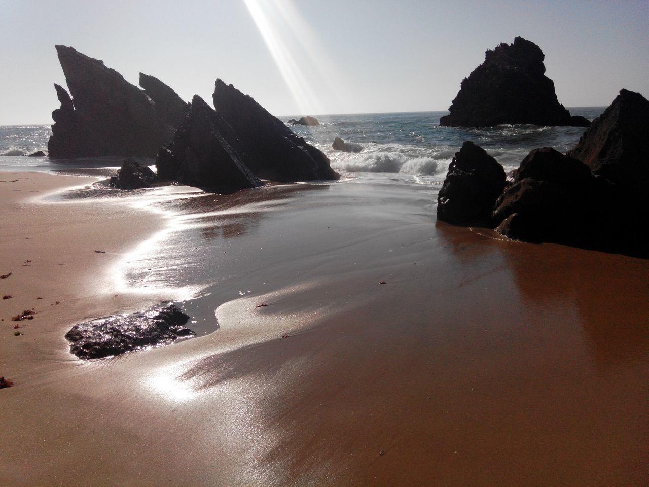 Adraga Praia Da Adraga Beachsand Beach Beachview Beachphotography Rockssilhouette Beachrocks Beach Time BeachSilhouette