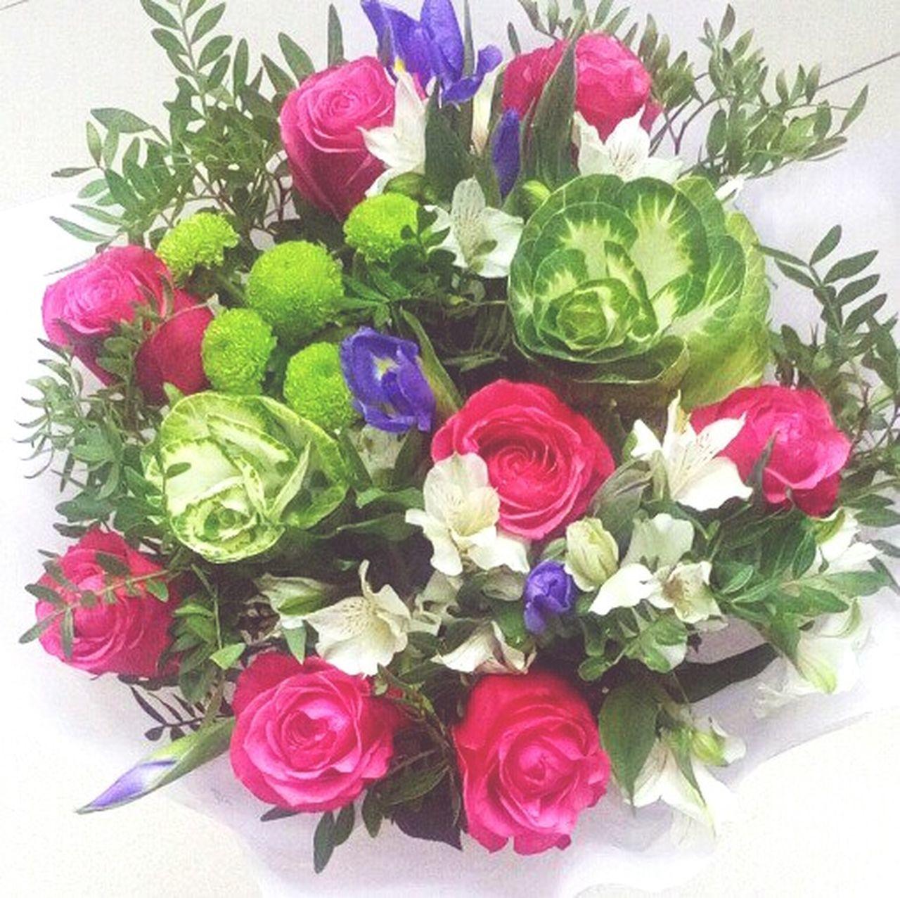 Flower Multi Colored розы капустка No People цветы букет мояработа