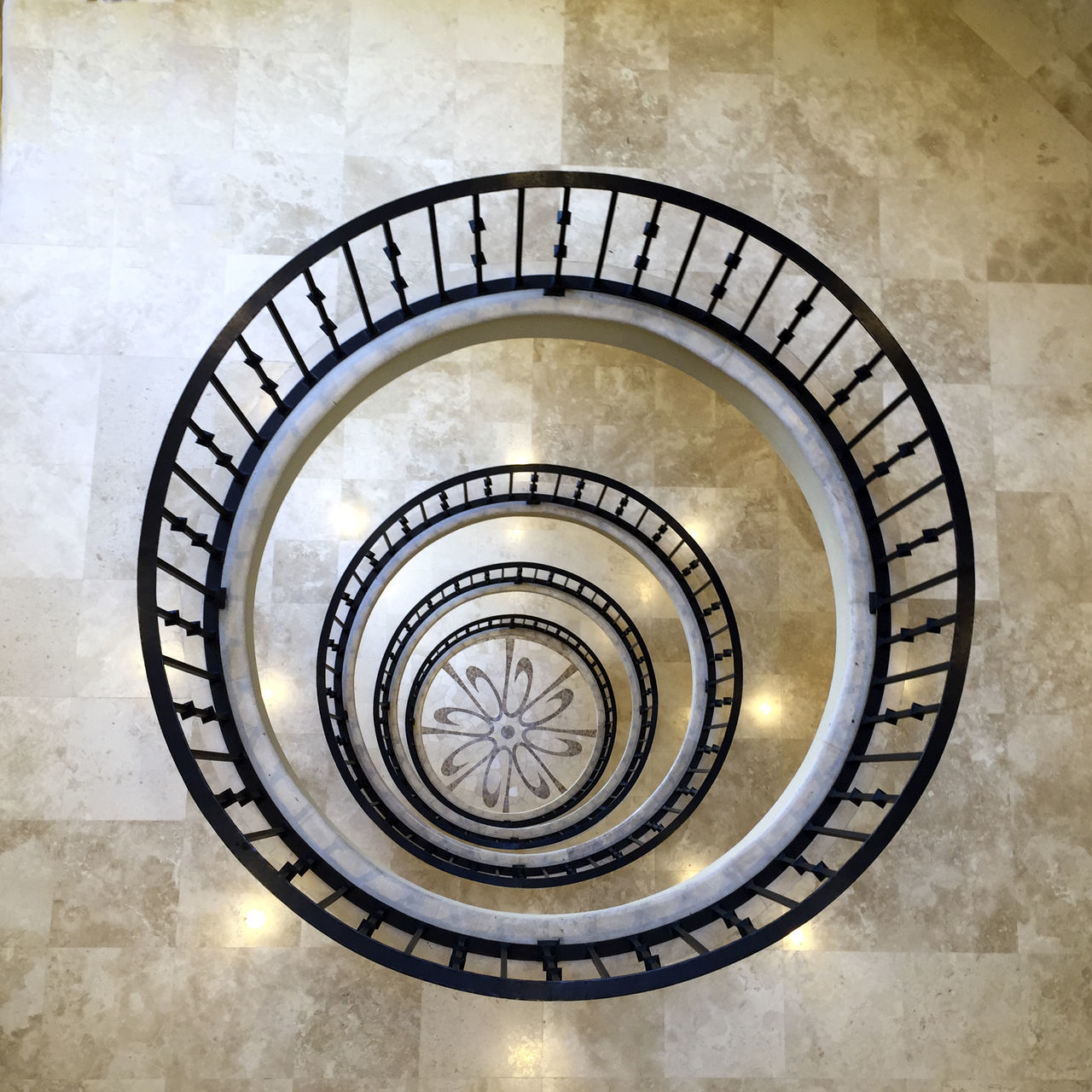 Artworks Black And Cream Colo Black Bannister Black Spiral Circle CIRCLE Of LIFE Circles In Circles Close-up Design Eyeem Artwork Eyeem Spiral Geometric Shape Marble Tiles No People No People, Spirals