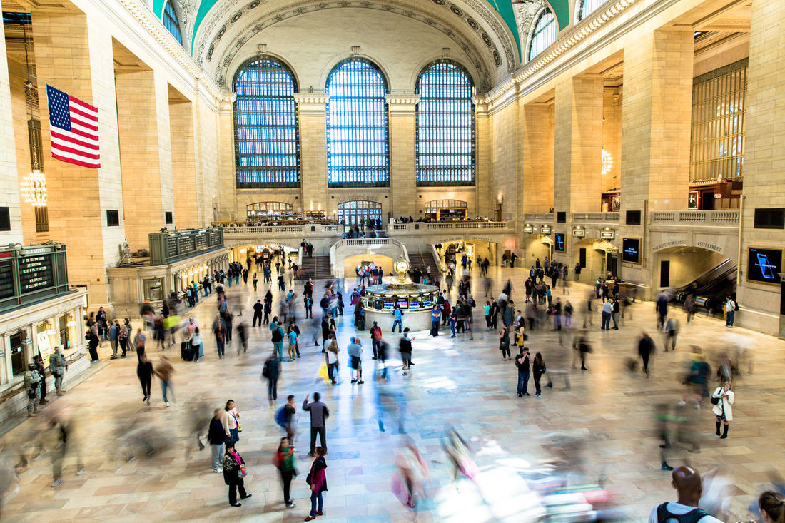 Architecture Bewegungsunschärfe Crowd Grand Station Indoors  Large Group Of People New York New York Grand Central Terminal, 1941 People People And Places People Photography People Watching Peoplephotography Tourism Tourist Travel USA USA Photos