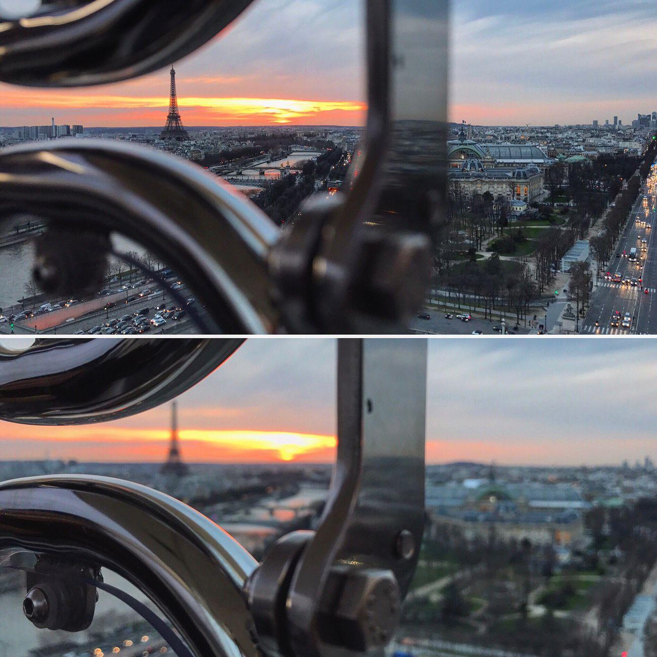 Focused in Paris City Paris, France  Eiffel Tower Sunset Parissunset Focus Parisfromthesky First Eyeem Photo
