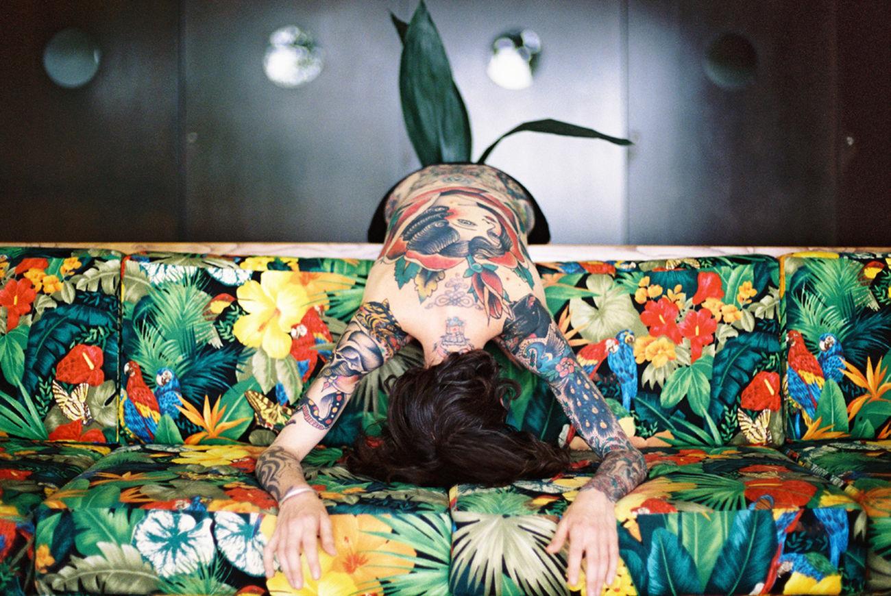 Alike 35mm 35mm Film Analog Analogue Photography Color Colors Film Film Photography Filmisnotdead Portrait Portrait Of A Woman Tattoo Tattoo Life