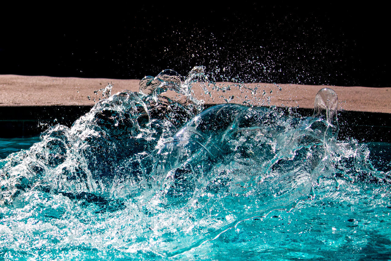 ...Shall We Begin? Yes Lisa... Abstract Beauty In Nature Blue Close-up Curves Detail Flowing Water High Shutter Speed Lines Motion Photography Pool Purity Shapes Splashing Spraying Water Wave Wet