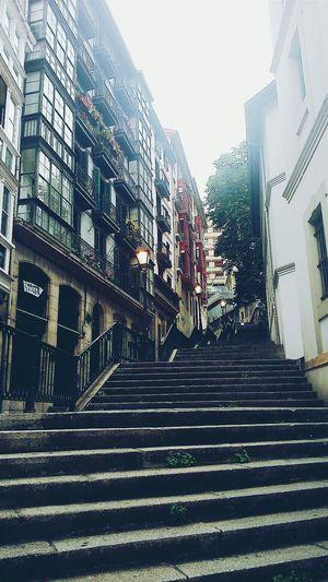 Bilbao Summer In Bilbao Bilbaostreets Hi! Street Steps España Travel Stairs Stairsandsteps