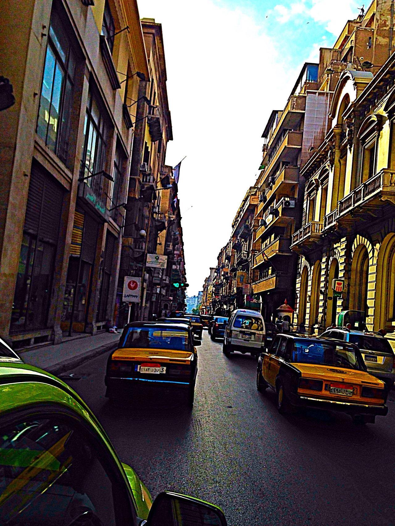 Alexandria Egypt First Eyeem Photo City Alexandria Egypt Car Blue Sky Street No People The Street Photographer - 2017 EyeEm Awards