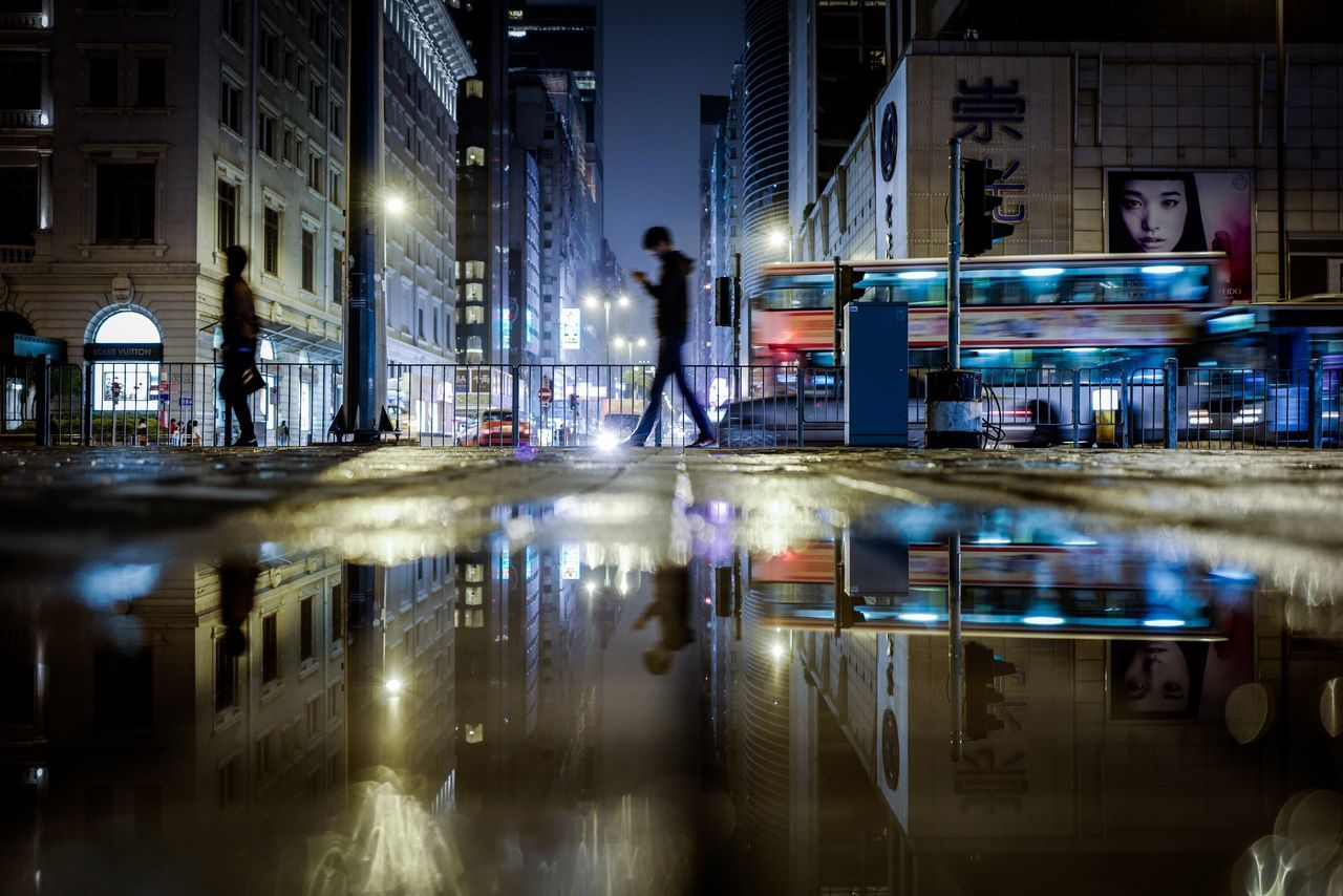 Reflection Rain Midnight Shadows & Lights Streetphotography Take Photos The City Light Minimalist Architecture Nightscape Beautiful Moments Of Life From My Point Of View Travelling Photography Moment Of Silence EyeEm Masterclass Life In Motion Walking Around Hello World EyeEmNewHere EyeEm Gallery Cityscapes Leicaq Discoverhongkong Nightphotography Cityscape