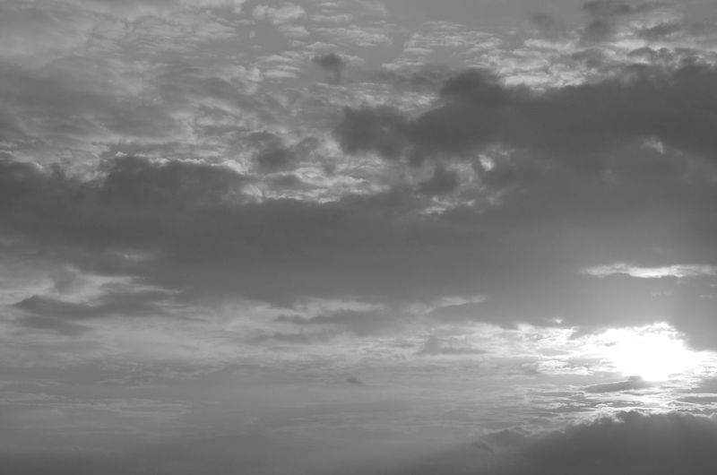 Getting Inspired Sky And Clouds Sun Light Black And White
