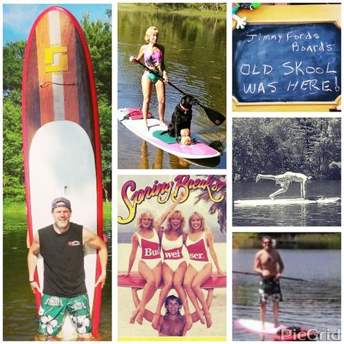 Shout out to Jimmy Fords Boards!!! Gettin the itch to go Paddleboarding… . Also got a pic of Jody & Raven,,, Jody is goin to b teaching Yoga classes on paddleboards this summer… she tried teachin me some last summer… I got a b/w pic shown a pose that I did… I will need some more practice… it is great exercise & strengths your core,,,which kicksass!?! Surprisepaddle Loveit Lifeisgood Exercise Strongcore Epic Watersports JimmyFordsBoards Kickingasstakennames Budwieser Whiskeymakesmefriskey Partylikearockstar Positiveattitude Helpraiseotherstoyourlevel Imonahellofaride Werewolvesoflondon