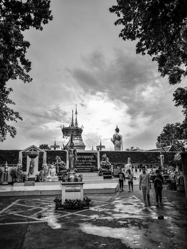 History Black & White Temple Buddhist Temple Buddhist Temple In Thailand Buddhist Monks Religious Architectural Travel Destinations Outdoors Memories Tourism The Culture Of The Holidays