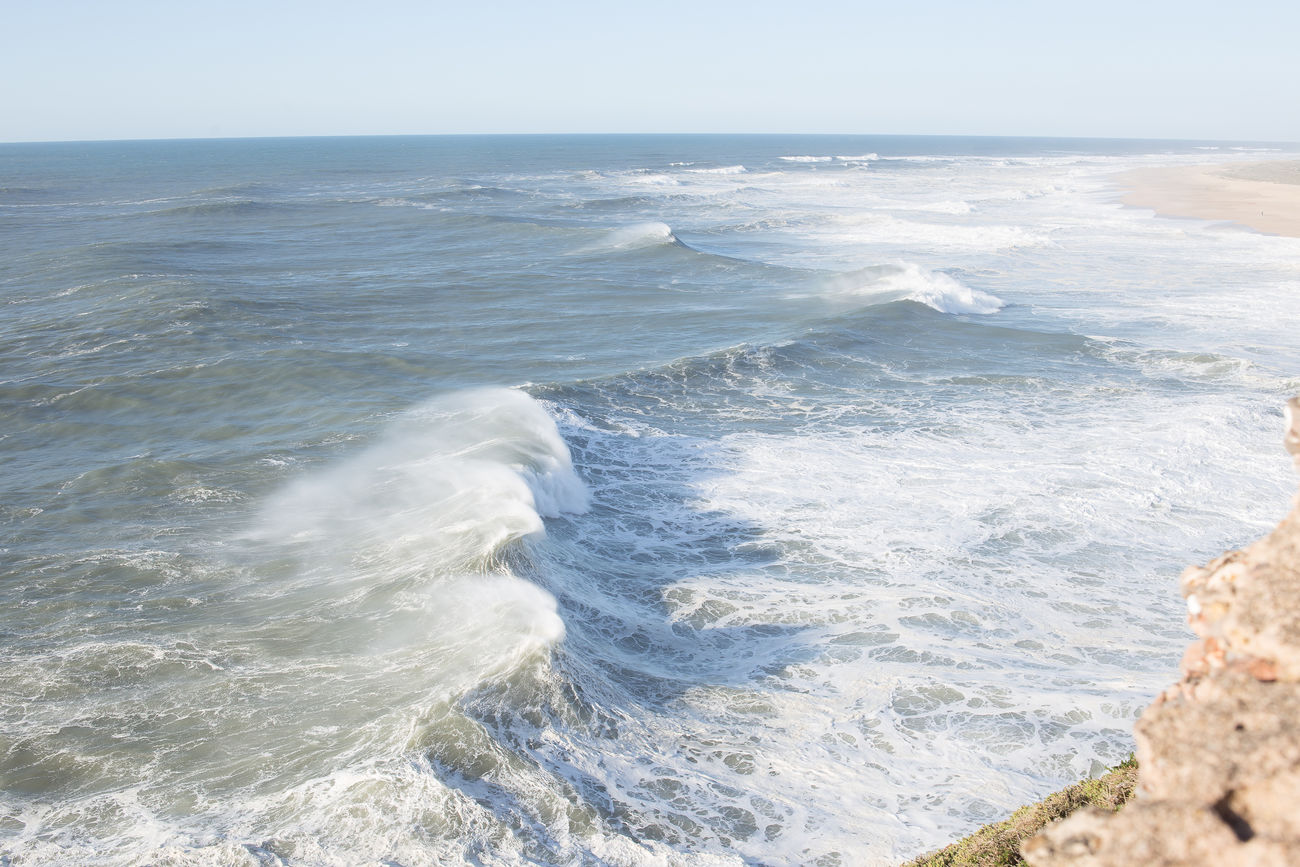 beautiful portugal Beach Beauty In Nature Clear Sky Day Horizon Over Water Nature No People Ocean Outdoors Power In Nature Scenics Sea Sky Water Wave