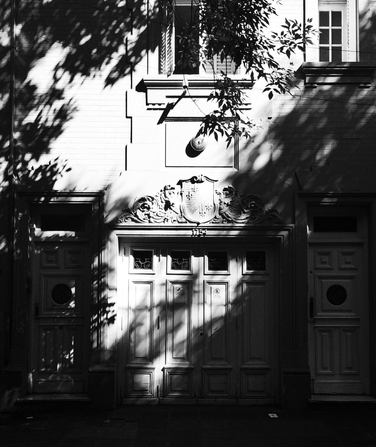 Darkness And Light Buenosaires Old House Architecture_bw Architecture Urbanphotography Urban Architecture Black & White Light And Shadow Treesilhouette