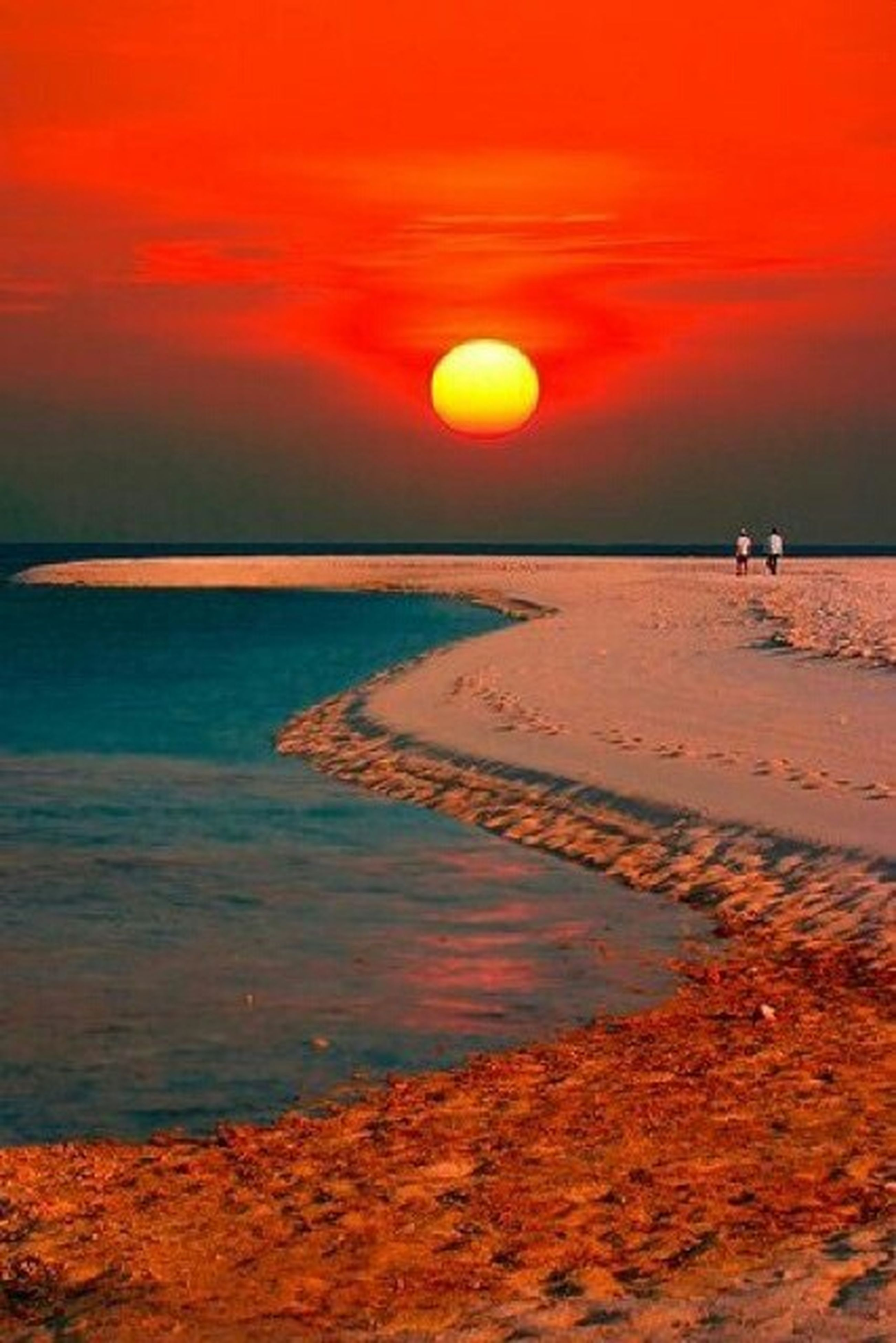 sunset, sea, orange color, water, beach, scenics, horizon over water, tranquil scene, beauty in nature, sky, sun, tranquility, idyllic, shore, nature, sand, silhouette, reflection, wave, vacations