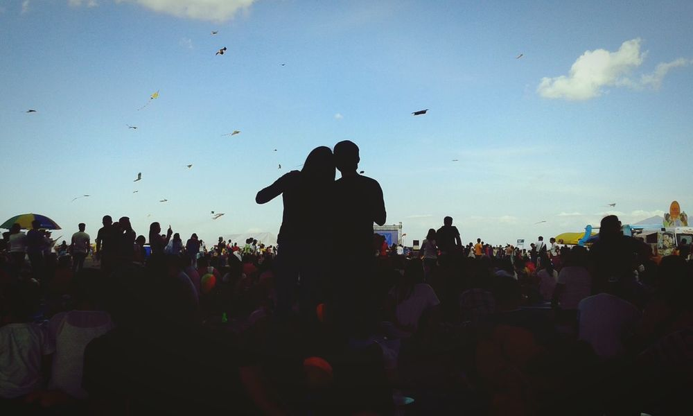 Q Quality TimeKite Watching Stand Out From The Crowd Stand Out You And Me Blue Sky And Clouds Kites Balloonfestph Silhouette Girl And Boy Valentines Day Sweet Happy Day Clark,Pampanga Clark Air Base Showcase: February Blue Wave