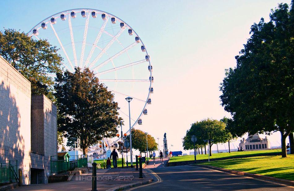Giant Wheel Plymouth England Hello World Travel Photography United Kingdom