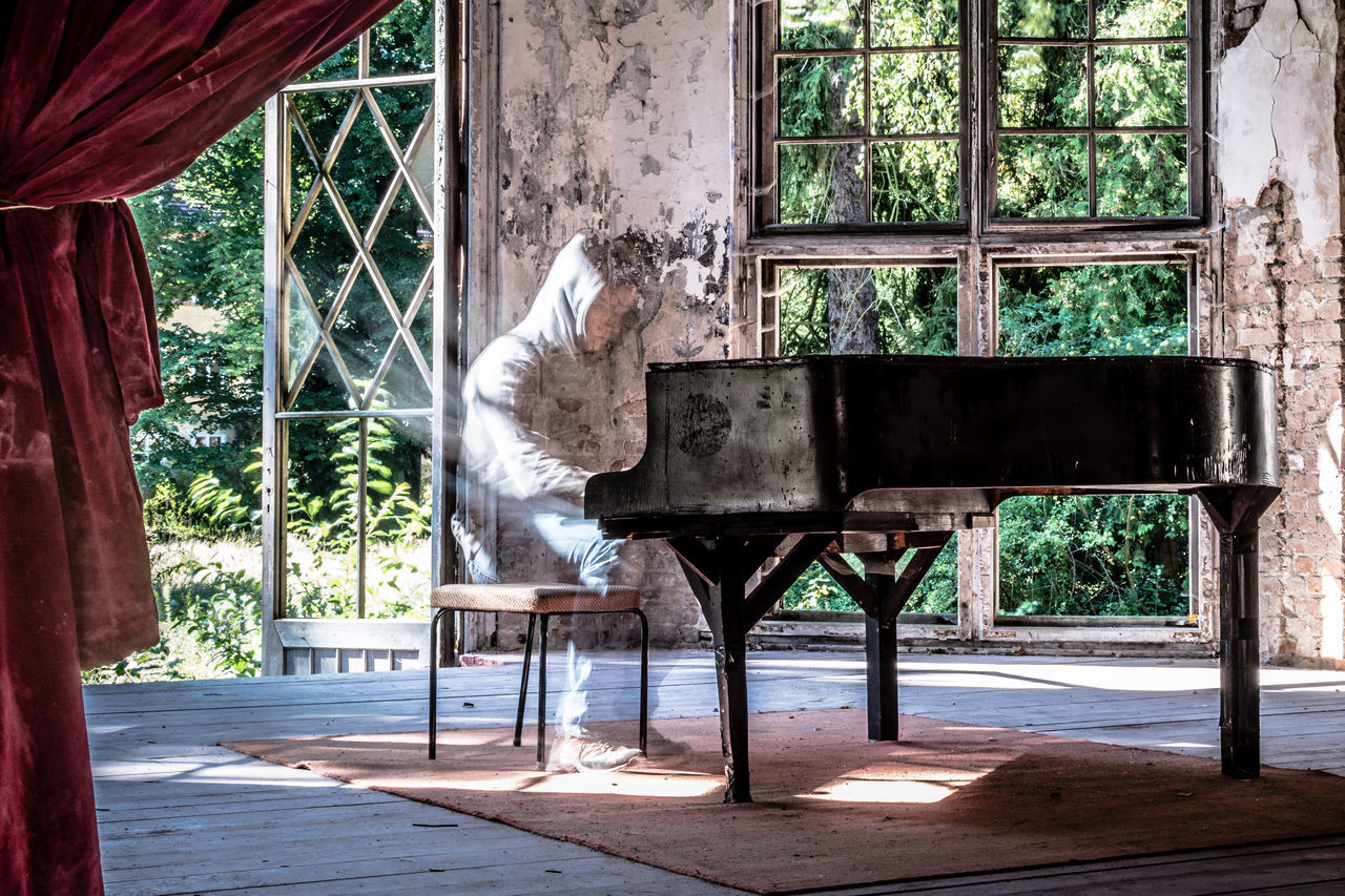 Alone Architecture Curtain Ghost Instrument Instruments Klavier Long Exposure Lost Places Lostplaces Music Music Instrument Peaceful Person Piano Piano Moments Piano Player