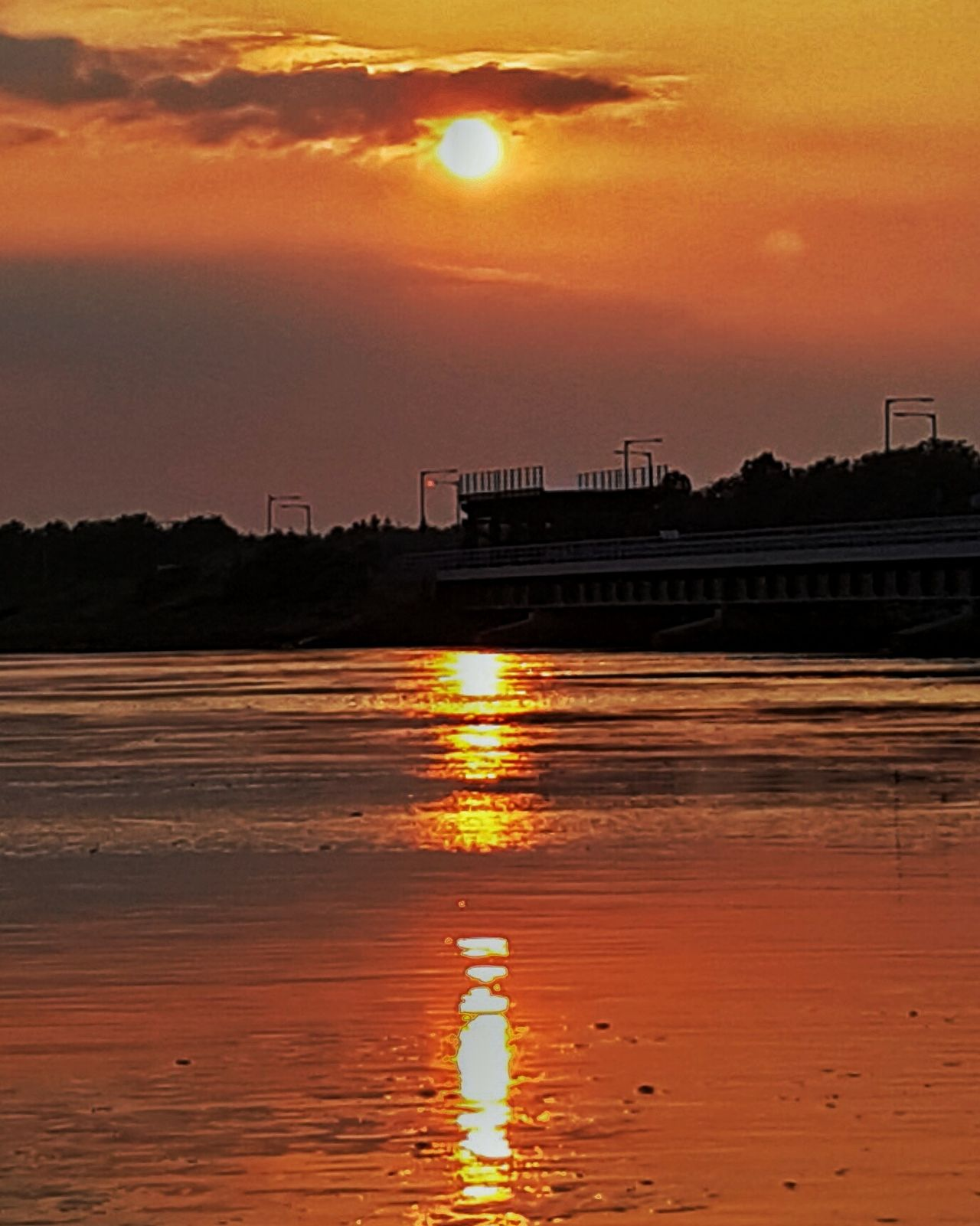 Sunset Sun Water Reflection Scenics Orange Color Silhouette Sky Cloud - Sky Tranquil Scene Beauty In Nature Idyllic Nature Tranquility Waterfront Non-urban Scene Sea Cloud Outdoors Romantic Sky