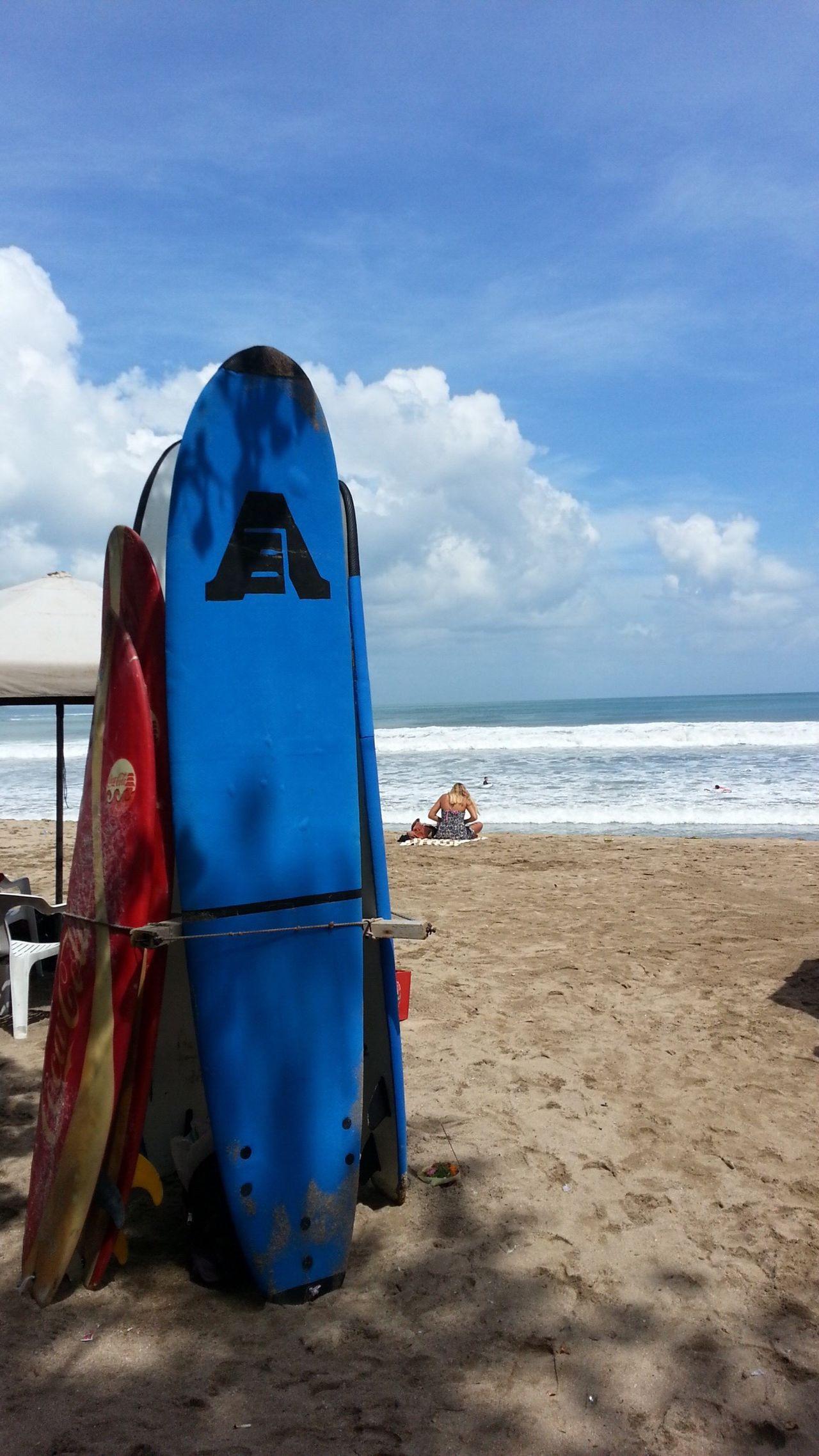 Surf Board Beach Cloud - Sky Horizon Over Water Outdoors Vacations Sand Sea Sky