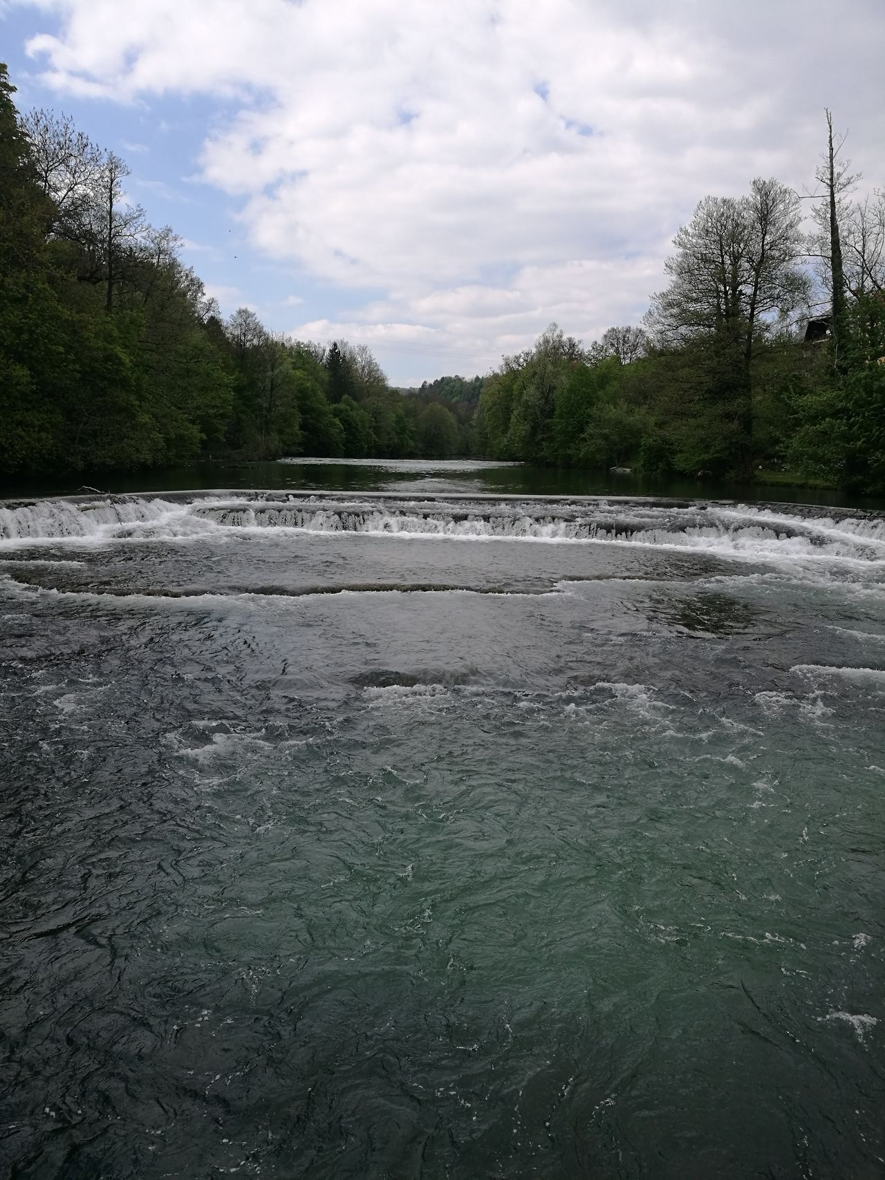 River Krka Waterfalls Slovenia Cloudy Nofilter
