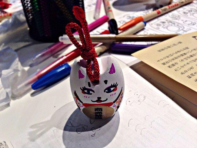 手作り猫。。顔は僕が描きました。^^ I painting a cat face. Cat ♡ Cat Cat♡